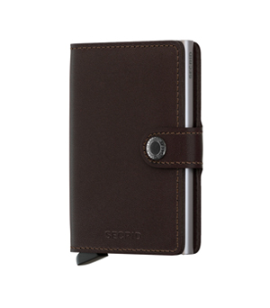 SECRID Mini Leather Wallet - Dark Brown