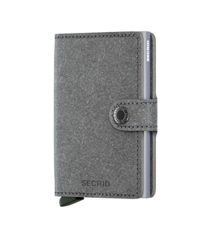 SECRID Mini Leather Wallet - Recycled Stone