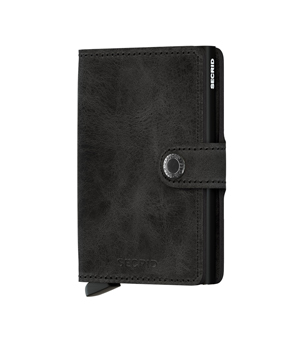 SECRID Mini Leather Wallet - Vintage Black
