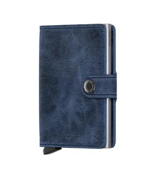 SECRID Mini Leather Wallet - Vintage Blue