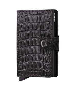 SECRID Mini Leather Wallet - Nile Black
