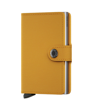 SECRID Mini Leather Wallet - Crisple Amber