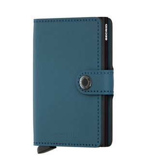 SECRID Mini Leather Wallet - Matte Petrol