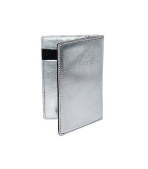 TAXIDERMY Compact Card Wallet - Metallic Silver