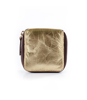 TAXIDERMY Coin Wallet - Metallic Gold
