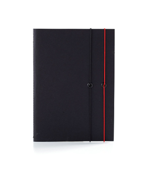 TAXIDERMY Double Elastic Lined Notebook - Black