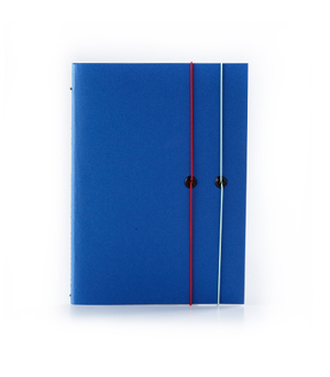TAXIDERMY Double Elastic Lined Notebook - Blue
