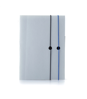 TAXIDERMY Double Elastic Lined Notebook - Grey