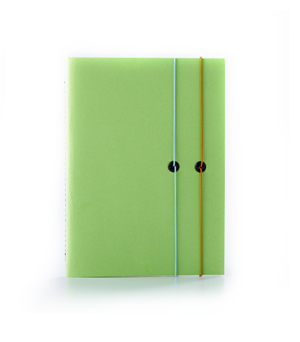TAXIDERMY Double Elastic Lined Notebook - Lime