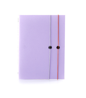 TAXIDERMY Double Elastic Lined Notebook - Lilac