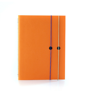 TAXIDERMY Double Elastic Lined Notebook - Orange