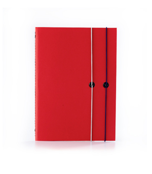 TAXIDERMY Double Elastic Lined Notebook - Red