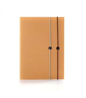TAXIDERMY Double Elastic Lined Notebook - Tan