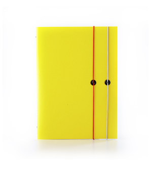 TAXIDERMY Double Elastic Lined Notebook - Yellow