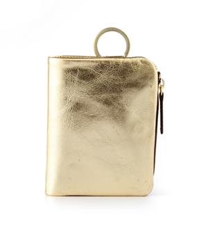 TAXIDERMY 'Icon' Wallet - Metallic Gold