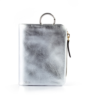 TAXIDERMY 'Icon' Wallet - Metallic Silver