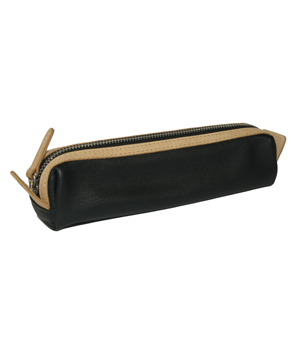 TAXIDERMY Leather Pen Case - Black