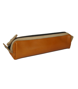 TAXIDERMY Leather Pen Case - Tan