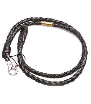 TAXIDERMY Long Leather Strap - (Hook) Black