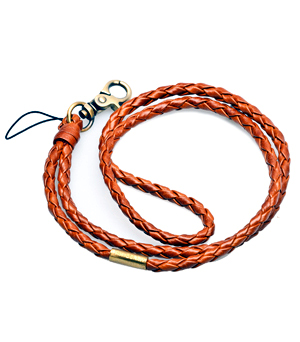 TAXIDERMY Long Leather Strap - (Hook) Brown