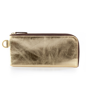 TAXIDERMY Long Wallet - Metallic Gold