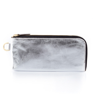 TAXIDERMY Long Wallet - Metallic Silver