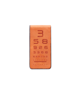TAXIDERMY Military Money Clip - Eye Test Orange