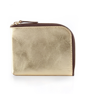 TAXIDERMY Square Wallet A - Metallic Gold