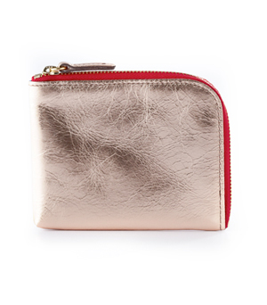 TAXIDERMY Square Wallet A - Metallic Pink