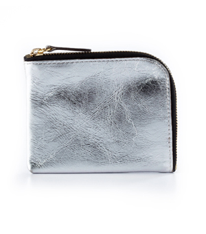 TAXIDERMY Square Wallet A - Silver Metallic