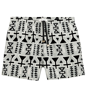 TIMO Trunks - Long Prep Aztec Paulie Grey