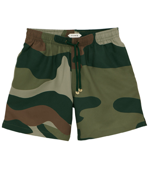 TIMO Trunks - Long Prep Camo Green