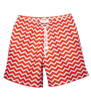 TIMO Trunks - Long Prep Ziggy Orange