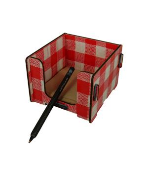 WERKHAUS Memo Box - Red/White Tartan