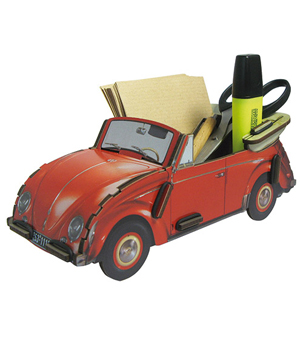 WERKHAUS Photo Note Box VW Beetle - Red
