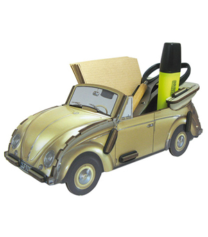WERKHAUS Photo Note Box VW Beetle - Gold